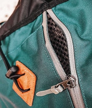 Close-up and details of a backpack