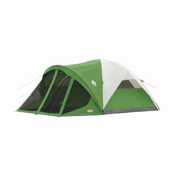 Coleman Dome Tent with Screen Room on white background