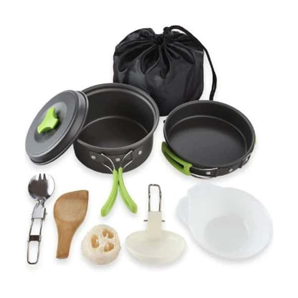 MalloMe Camping Cookware Mess Kit on white background