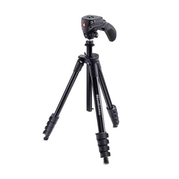 Manfrotto MKCOMPACTACN-BK Compact Action Tripod on white background