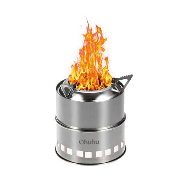 Ohuhu Camping Stove Stainless Steel Backpacking Stove