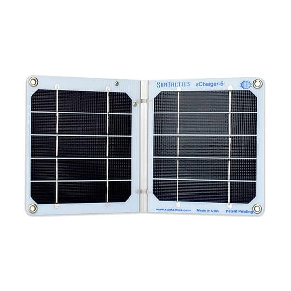 Suntactics S5 Ultralight Solar Charger on white background
