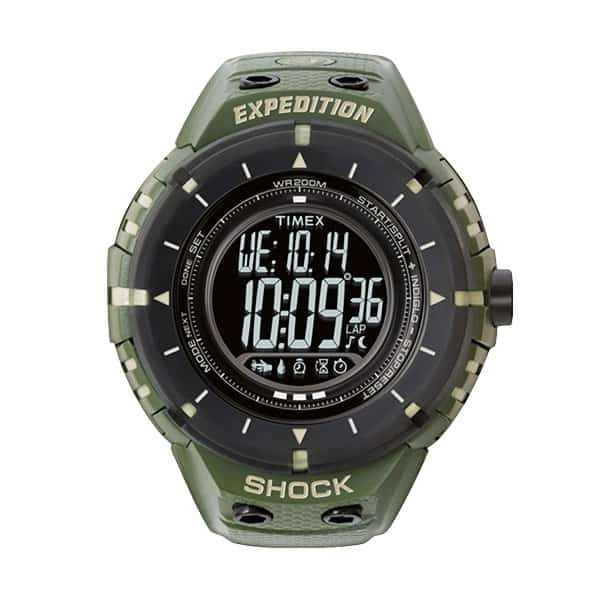 Timex Expedition Shock Digital Compass Resin Strap Watch on white background