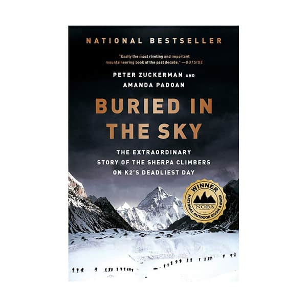 Buried In The Sky - Peter Zuckerman and Amanda Padoan on white background