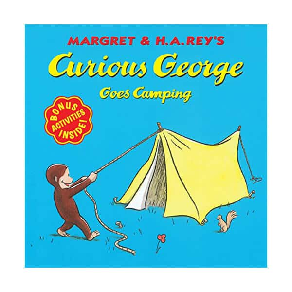 Curious George Goes Camping - Margaret Rey on white background