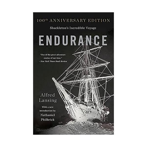 Endurance - Alfred Lansing on white background