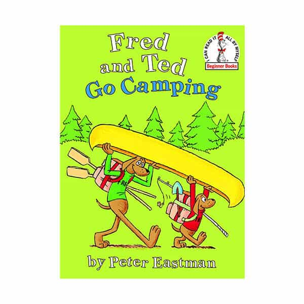 Fred and Ted Go Camping - Peter Eastman on white background