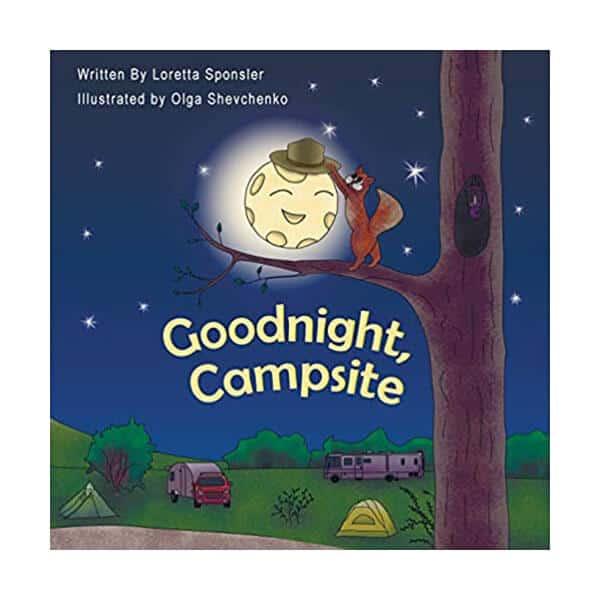 Goodnight, Campsite - Loretta Sponsler on white background