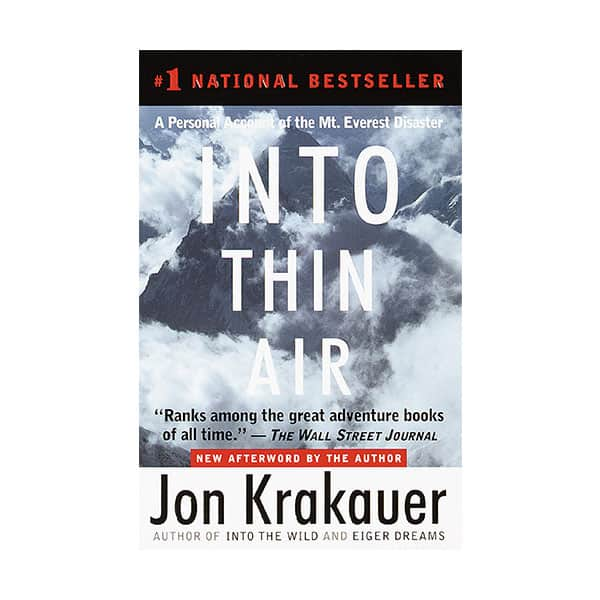 Into Thin Air - Jon Krakauer on white background