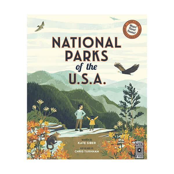 National Parks of the USA - Kate Siber on white background