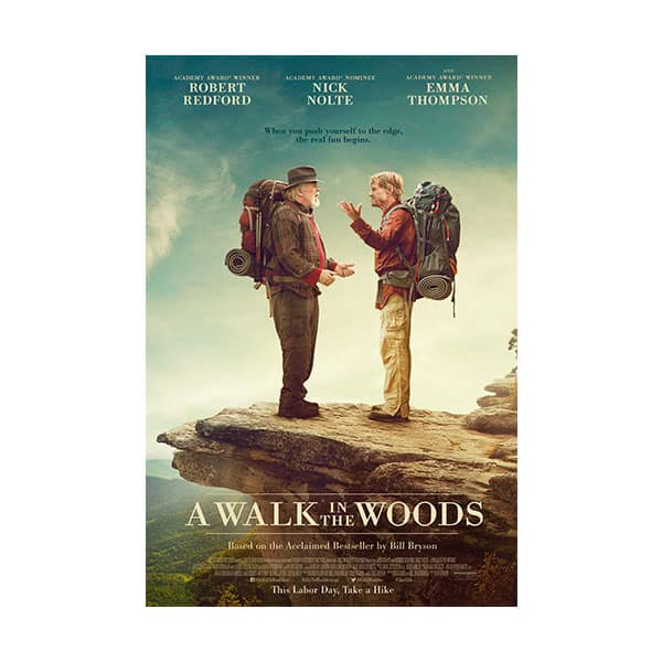 A Walk In The Woods movie's cover on white background