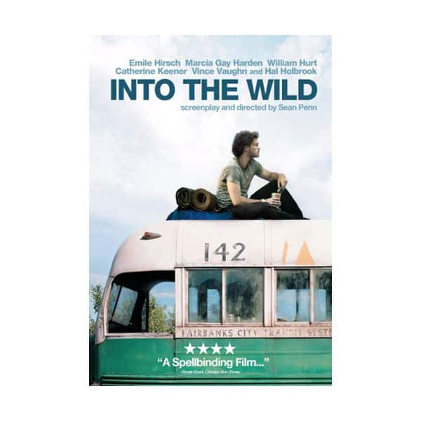 Into The Wild movie's cover on white background