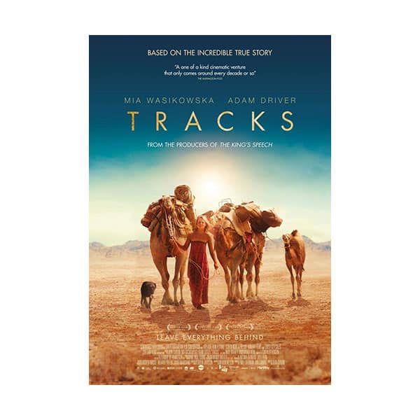 Tracks movie's cover on white background