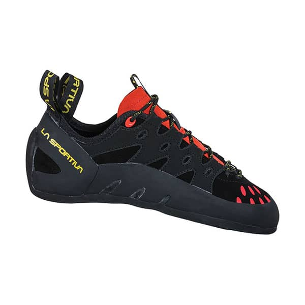 La Sportiva Tarantulace climbing shoes for wide feet on white background