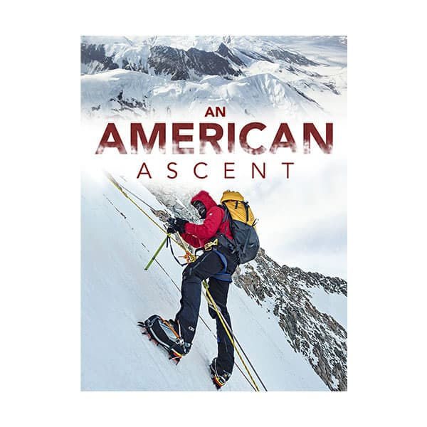 An American Ascent documentary cover on white background