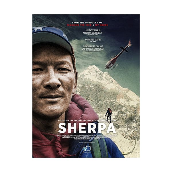 Sherpa documentary cover on white background