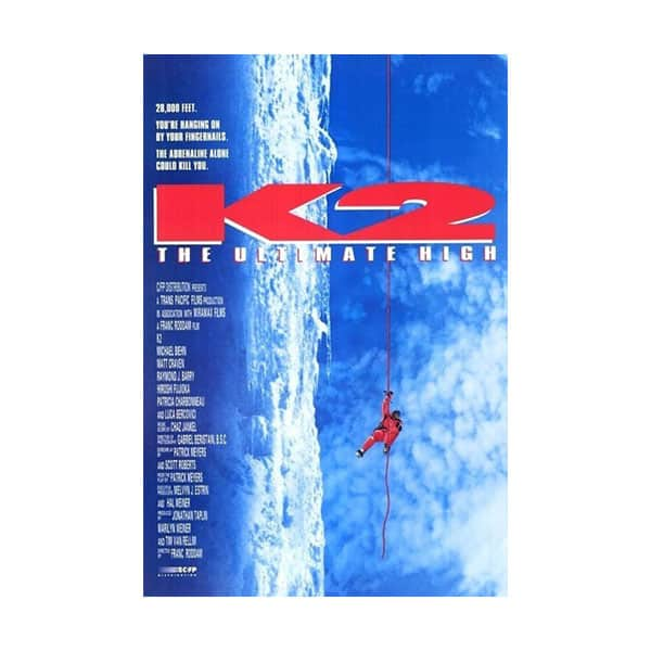 K2 movie poster on white background