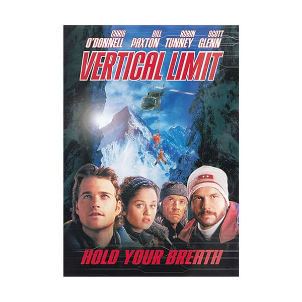 Vertical Limit movie poster on white background